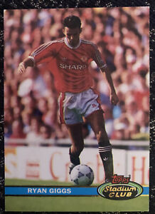 Ryan Giggs Rookie Card Topps Stadium Club Manchester United Ex Cond Player 1991