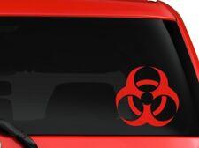 "Biohazard Symbol Car Truck Laptop Macbook Vinyl Sticker Decal 6"" Red"