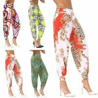 Womens Printed Ali Baba Baggy Hareem Pants Ladies Party Wear Cuffed Trousers