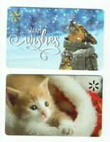 Walmart Gift Card Christmas 2020 - Dog in Snow & Kitten - LOT of 2 - No Value