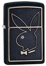Zippo Briquet playboy M. emblème u. swarovski element Black tapis nouveau Bunny OVP