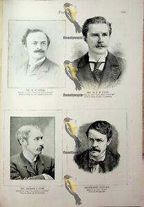 Editors (2), ET Cooke, HJE Cust, SJ Low, Prof Stuart, Book Illustration, 1893