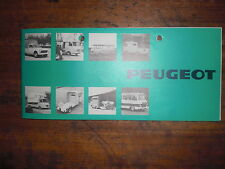 Prospekt Sales Brochure Peugeot J7 Kastenwagen Transporter Auto Car  автомобиль