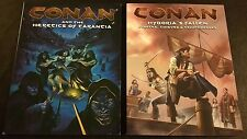 CONAN RPG HYBORIA'S FALLEN + CONAN AND THE HERETICS OF TARANTIA Lot D20 D&D NEW!