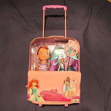 NWT Disney Princess Ariel Doll Dress Suitcase Set Dress-up Shoes Tiara Girl 3+