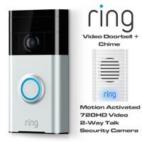 Ring Video Doorbell - Motion Activated 720HD Video 2-Way Talk Camera With Chime