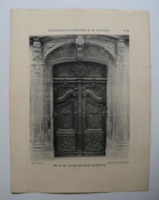 AIX PROVENCE Hotel Panisse Porte ARCHITECTURE Sculpture PHOTO 1910