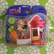 Littlest pet shop Only At Target 🎯 Horse 🐴 #405 With Play Scene! NIP
