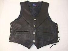 Vintage Vance Leathers Men's Side Laced Vest Size XL