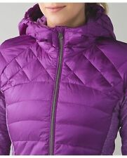 New $198 NWT 2 Lululemon Down for a Run Jacket Down 800 Fill Tender Violet Coat
