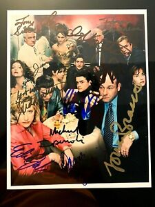 The Sopranos Complete Cast  Hand Signed Original HBO Photo  Machiavelli 1520 LOA