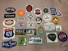 Lot Of 24 Different Craft Beer Brewery Stickers All New, Breweries Beer