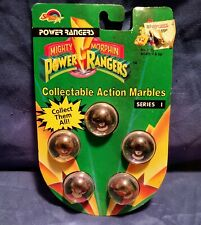 Mighty Morphin Power Rangers - 5 Action Marbles - Series 1 - 1994 - NEW