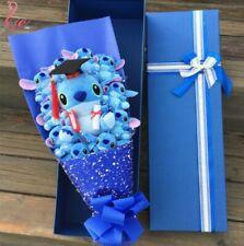 Lilo & Stitch Plush Toys Doll Bouquet With Box Xmas Festivals Graduation Gifts