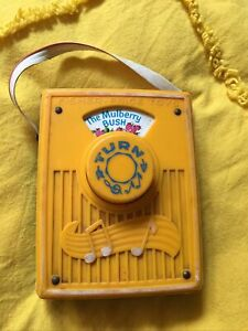 1970s Vintage Fisher Price Toys Musical Mulberry Bush Toy Music Box Radio