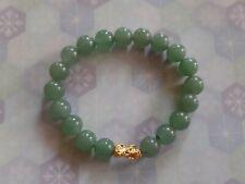 24K mini piyao chinese gold with jade bracelet