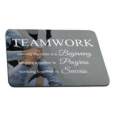 Teamwork Positive Quotes Rectangle Mouse Pad Non-Slip Rubber Gaming Desk 220X180