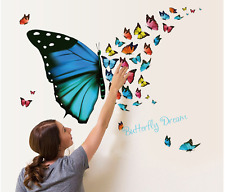 Butterflies fly Home Decor Quote Removable Vinyl Decal Mural Wall Stickers vinyl
