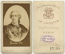 CAB PHOTO PORTRAIT OF LOUIS XV KING OF FRANCE MONARCH OF THE HOUSE OF BOURBON