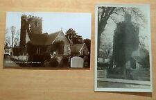 Hadley Church near Barnet England UK 2 Vintage Photo Postcards c.1930