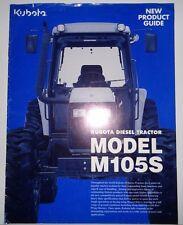 Kubota Dealers M105S Tractor Sales Brochure literature ad advertising small tear
