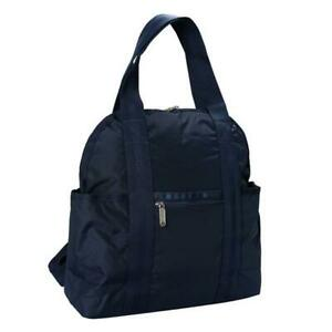 LeSportsac Solid Collection Double Trouble Backpack in Classic Navy NWT