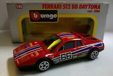 BURAGO 1:43 DIE CAST MADE IN ITALY FERRARI 512 BB DAYTONA ROSSO ART 4106