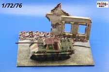 Redog 1/72 Small Resin Diorama Base Ruins Tank  Scale Model Building  / d8