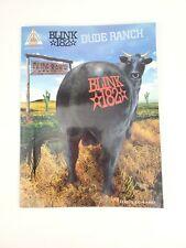 Blink 182 Dude Ranch Sheet Music Song Book Songbook Guitar Tab Tablature