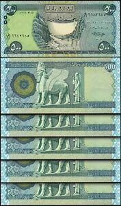 Iraq 500 Dinars 2018, UNC, 5 Pcs LOT, Consecutive, P-New Signature
