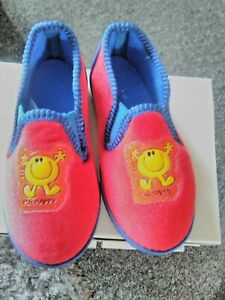 Mr Happy  Cute  Unisex Slippers Size Infant 4,5,6 Thick Soles