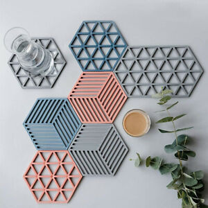 Home Kitchen Durable Heat Insulation Pad Protect The Desktop Silicone Mat YG
