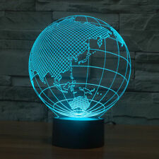 Asia Map Acrylic 3D LED Night Light Table Lamp USB Touch Switch Girls Xmas Gift