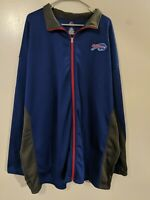 Buffalo Bills Majestic Zip Up Collared  Sweatshirt Jacket Men's Size 4XLT