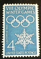 U.S. Scott 1146- Winter Olympic Rings & Snowflake- MNH OG F-VF 4c 1960