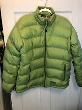 7. Patagonia Goose down jacket Women's Green Puffer L