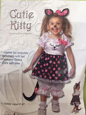 Pink Kitty Cat Children's Girl Costume Halloween Party CHILD Toddler Sz 2T- 4T