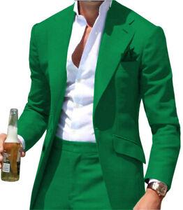 Mens 2Piece Casual Suit Bridegroom Tuxedos for Wedding Blazer+Pant Notch Lapel++