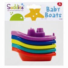 5 x Baby Floating Kids Bath Tub Plastic Boats Toys Set