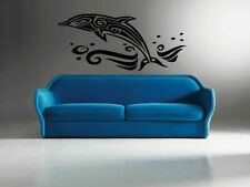 DOLPHIN ANIMAL Wall Decal Vinyl Sticker Mural Design, nautical decor art #406