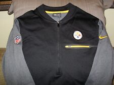 NFL Pittsburgh Steelers Nike Dri-Fit Coaches Circuit 1 2 Zip Golf Jacket Men eb882715b