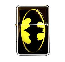 BATMAN LOGO JET TORCH LIGHTER WINDPROOF METAL REFILLABLE CIGAR INSERT FLIP TOP
