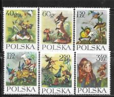 "Poland 1962 Various Scenes From""Orphan Mary And The Dwarfs"" Sc # 1105-1110 Mnh"