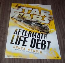 STAR WARS Aftermath Life Debt Chuck Wendig NYCC EXCLUSIVE POSTER NEW ART