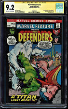 MARVEL FEATURE #3 CGC 9.2 SS STAN LEE 3RD APP OF THE DEFENDERS CGC #1508496012