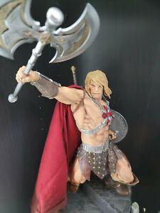 SIDESHOW EXCLUSIVE HE-MAN Masters Of The Universe MOTU Statue HeMan Figure Axe