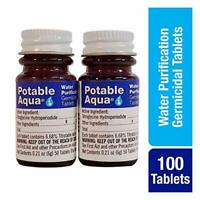 Potable Aqua Germicidal Water Purification Tablets-50Count Twin Pack FREE SHIPP
