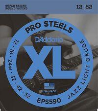 D'Addario Guitar Strings  Pro Steels  EPS590  Jazz Light  Electric