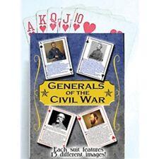 CIVIL WAR GENERALS PLAYING CARDS 54 SCENES