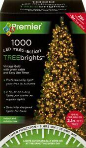 1000 LED Multi-Action TreeBrights Christmas Tree Lights Timer - VINTAGE GOLD